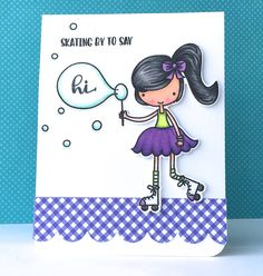 The Queen's Scene Avery Elle #thequeensscene #averyelle #skatingby #handmadecard #papercrafting