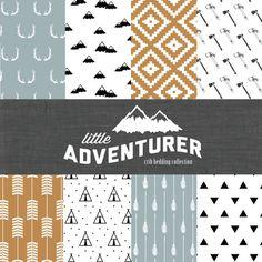Little Adventurer Crib Bedding Set  Modern Custom by CozybyJess, $62.00