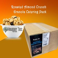 Buy the roasted almond crunch granola catering pack from Mulberry Tree for best quality & price. Healthy Breakfast Recipes, Breakfast Ideas, Crunchy Granola, Mulberry Tree, Roasted Almonds, Low Sugar, Acai Bowl, The Best, Catering