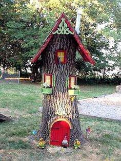 Fairy house from a tree stump