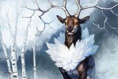 It sounds so much prettier than sawsbuck! While it was silly to spend this much time painting a Pokemon, it was a Good Painting Exercise. Real Pokemon, Pokemon Fan, Pokemon Stuff, Pokemon Memes, Pokemon Fusion, Lugia, Time Painting, Pokemon Pictures, Catch Em All