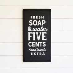 "Vintage Bathroom Painted wood sign 14"" X 26"" in.  