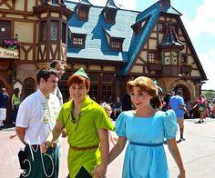 Wendy & Peter Pan (Holding Hands at Disney World) #PeterPan