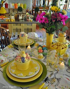 Spring / Easter Fiesta® Dinnerware Tablescape | The Little Round Table