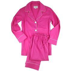 Elizabeth Cotton Egyptian Cotton Pajamas (790 BRL) ❤ liked on Polyvore featuring intimates, sleepwear, pajamas, pijamas, long pajamas, cotton pajamas, cotton pjs, cotton loungewear and cotton sleepwear