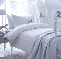 Dotty Blue Organic Cotton Duvet Cover (collection)   The Fine Cotton  Company L Luxury Organic Cotton Bedding, Luxury Bed Linen, Duvet Covers.