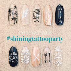 Instagram media by mananails - #shiningtattooparty 24日のPARTY @mananails ネイルブースでは選べるネイルアート2本¥1000(ベースカラー+¥500) ブースの出展は20:00〜23:00で先着順となります 場合によっては延長あり サンプルを他にもたくさんご用意しているのでお楽しみに 皆さんのご来場心よりお待ちしております 詳細は @shining_tattoo をcheck