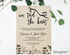 Elegant DIY Elopement Announcement / Reception invitation template. This is an instant download, editable template in a PDF format for you to edit and print at home or a local copy center. There will be no physical transfer of goods/no shipping costs but a digital template delivered to