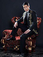 Black Polyester Slim Fit Four-Piece Tuxedo – USD $ 114.99