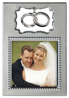 "3"" x 3"" Double Ring Charm Picture Frame"