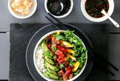 MIDDAG   TRINES MATBLOGG Small Meals, Frisk, Cobb Salad, A Food, Vegetarian Recipes, Yummy Food, Mango, Cookies, Dinner