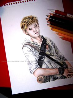 fucking shit this is perfect! Thomas Sangster as Newt by TrueKemistry..
