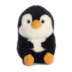 Rolly Pet Peewee, this adorable plush penguin, has soft black and white fur, sweet black eyes, and blushing cheeks. This penguin stuffed animal is the perfect size to fit in the palm of your hand. Cute Stuffed Animals, Cute Animals, Pusheen, Totoro, Pet 5, Kawaii Plush, Cuddle Buddy, Cute Penguins, Plush Animals
