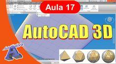 Curso de AutoCAD 3D - Aula 17/25 - Malhas - Autocriativo