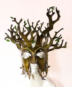 Tree Leather Mask #Halloween #leather #mask www.loveitsomuch.com