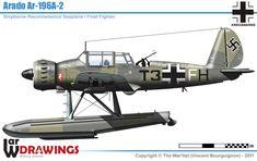 Ww2 Aircraft, Fighter Aircraft, Fighter Jets, Flying Boat, Aircraft Design, Aviation Art, Luftwaffe, Military Vehicles, World War