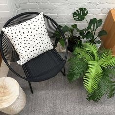 Create a beautiful corner in your backyard to relax or read a book in. We pick Woven lounge chair & Ulrich stool by Woven+ and Plumes cushion by @hartoedition.