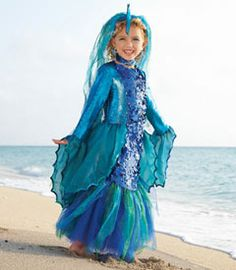 tropical angelfish costume. Biz,I wonder if we could make this work with that glittery, turquoise dress that we bought for Annie for the beach?