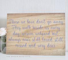 Hochzeit Erinnerung In liebevoller Gedächtnis von TheGreenDovecote