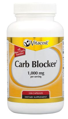 Vitacost Carb Blocker With Phase 2 Starch Neutralizer -- 1000 mg per serving - 120 Capsules *** You can find out more details at the link of the image.