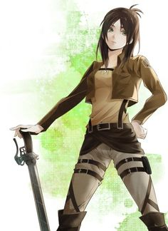 Eren Jaeger gender bender || その他 | しょくむら [pixiv] http://www.pixiv.net/member_illust.php?mode=medium&illust_id=39617670 [please do not remove this caption with the source]