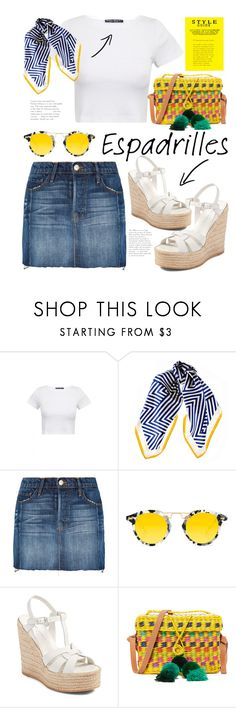 """Step Into Summer : Espadrilles"" by cinnamonbelle ❤ liked on Polyvore featuring Black, Frame, Krewe, Yves Saint Laurent and Nannacay"