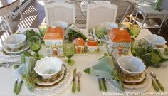 Ma Maison dishware by Dario Farrucci - great for a home them tablesetting