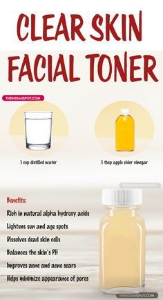 Homemade Natural Clear Skin Facial Toner Use this homemade toner for smoother, brighter and healthier skin. Malic and lactic acids found in the apple cider vinegar helps to soften and exfoliate your skin, reduces dark spots, acne, blackheads Toner Facial, Facial Care, Diy Toner Face, Diy Face Scrub, Diy Face Mask, Diy Exfoliating Face Scrub, Facial Serum, Beauty Care, Diy Beauty