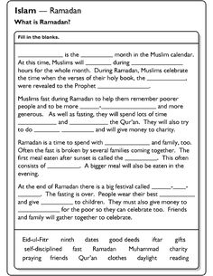 Ramadan - Fill in the blanks