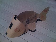 Construction of fish costume by wrnking, via Flickr