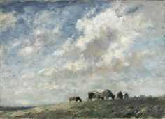 Edward Seago | Norfolk - Cattle on the Rond