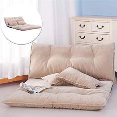 Amazing offer on Floor Sofa Bed, Foldable Sleeper Sofa Bed, Lounge Couch, Reclining Sofa Couch 2 Pillows Living Room (Beige) online - Wouldtopshopping Sofa Bed Lounge, Futon Sofa, Sleeper Sofa, Sofa Set, Sofa Chair, Recliner, Floor Couch, Cheap Couch, Beige Living Rooms