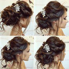 Свадебная причёска пошагово