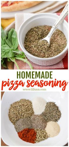 4 Points About Vintage And Standard Elizabethan Cooking Recipes! If You Make Homemade Pizza, You Need This Pizza Seasoning In Your Life. It Has The Perfect Ratio Of Seasonings And Herbs To Make The Tastiest Pizza Ever Homemade Dry Mixes, Homemade Spice Blends, Making Homemade Pizza, Homemade Spices, Homemade Seasonings, Spice Mixes, Homemade Recipe, Homemade Pizza Sauce, Homemade Pasta