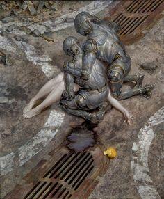 "Sorrow by Donato Giancola -27"" x 33"" Oil on Panel 2014"
