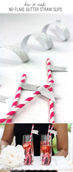 No-Flake Glitter Straw Slips | Kim Byers, TheCelebrationShoppe.com