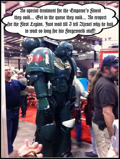 Warhammer 40,000 Cosplay -- Well, nobody really likes the Dark Angels, anyway, sooo...