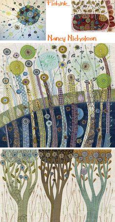Nancy Nicholson Embroidering nature