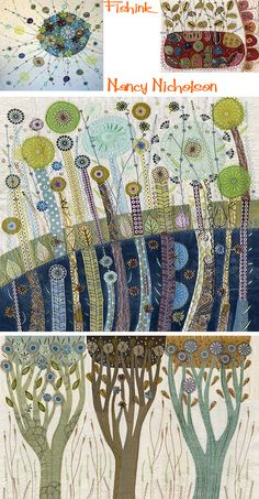 Nancy Nicholson Embroidering nature