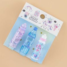 Candy Unicorn Soda Bottle & Tumbler Pencil Caps Reuse Old Tires, Reuse Recycle, Recycling, Recycled Crafts, Diy Crafts, Japanese Pen, Stationary School, Beautiful Notebooks, Pen Shop