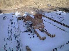 For the first time in 112 years, it snowed in Egypt.