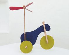 Wooden toy, eco friendly, hand-made toy, the flying tricycle