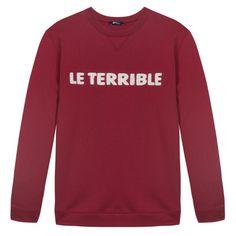 Le Terrible - Burgundy SweatShirt - Le Slip Français