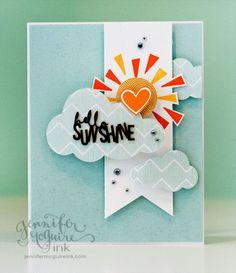 Such a Cute and Pretty Card by Jennifer McGuire using some Lawn Fawn and Hero Arts stamps! 2013
