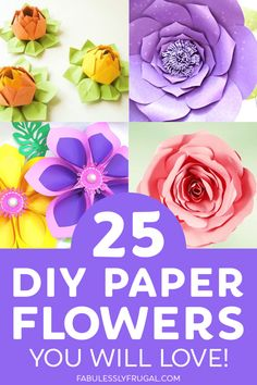 Who says you need to tend to a garden in order to enjoy the sight of beautiful, blossomed flowers?With the paper craft flowers below, you can enjoy a wonderful variety of flowers all year long! Paper Flower Wreaths, Tissue Paper Flowers, Craft Flowers, Flower Crafts, Cloth Flowers, Flower Art, Paper Crafts For Kids, Diy Paper, Tape Crafts