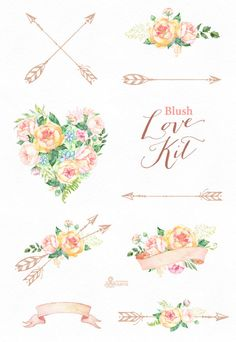 This set of high quality hand painted watercolor floral arrangements. Perfect graphic for wedding invitations, greeting cards, photos, posters, quotes and more. ----------------------------------------------------------------- INSTANT DOWNLOAD Once payment is cleared, you can download your files directly from your Etsy account. ----------------------------------------------------------------- This listing includes: 9 x Graphic Element in PNG (transparent background) and JPG Size approx.:...