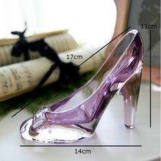 Online Shop Crystal shoes glass slipper birthday gift home decor Cinderella High-heeled shoes Wedding shoes figurines miniatures ornament Clear Shoes, Crystal Shoes, Stiletto Heels, High Heels, Shoes Heels, Glass Heels, Designer Wedding Shoes, Designer Shoes, Cinderella Shoes