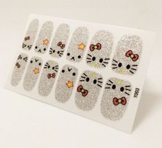 Find More Stickers & Decals Information about Hello Kitty Nails Stickers Template Waterproof Nail foil Sticker Pattern Nail Art Sticker12pc/Sheet Free,High Quality stickers green,China stickers glass Suppliers, Cheap sticker security from IKK care you care on Aliexpress.com