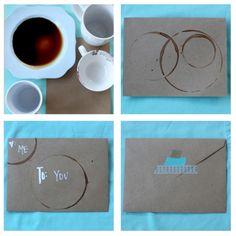 coffee greeting card DIY