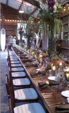 Farm style wedding # barn style